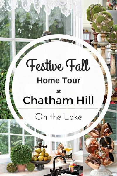 Festive Fall Home Tour at Chatham Hill on the Lake