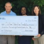 Duke Energy check to Chatham Reads