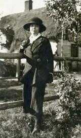 Rose Wilder Lane in Europe about 1920. (Rose Wilder Lane Collection, Herbert Hoover Presidential Library.)