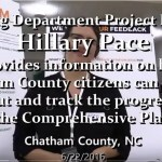 Hillary Pace about Comprehensive Plan Survey