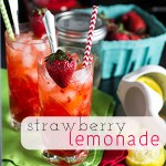 Easy Strawberry Lemonade for One