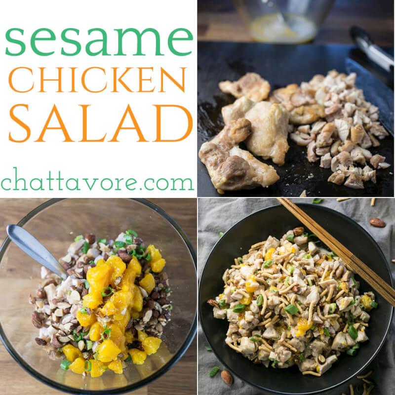 Sesame Chicken Salad with Almonds - Chattavore