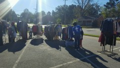 Local church giveaway for hurricane victims