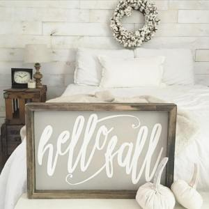 Swooning over this beautiful hello fall sign from casigndesign lovehellip