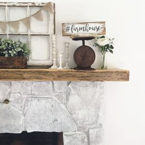Switching up my mantle decor with this farmhouse sign fromhellip