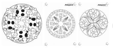 Arts visuels coloriages - Coloriage mandala printemps ...