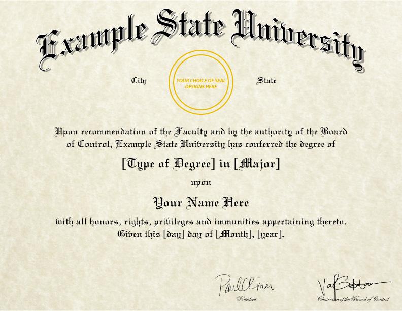 Fake College Diploma Templates  Designs - Cheaper-than-Tuition! - degree templates