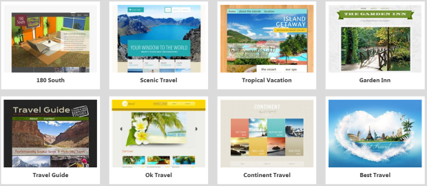 website builder travel templates