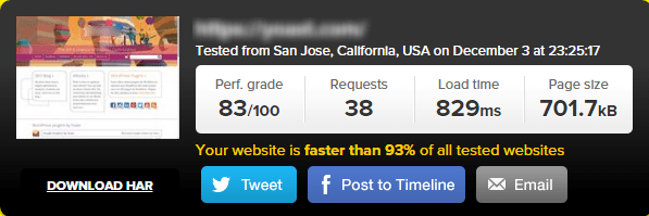 wpengine page speed test