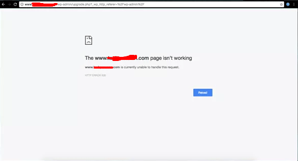Wordpress Login Error