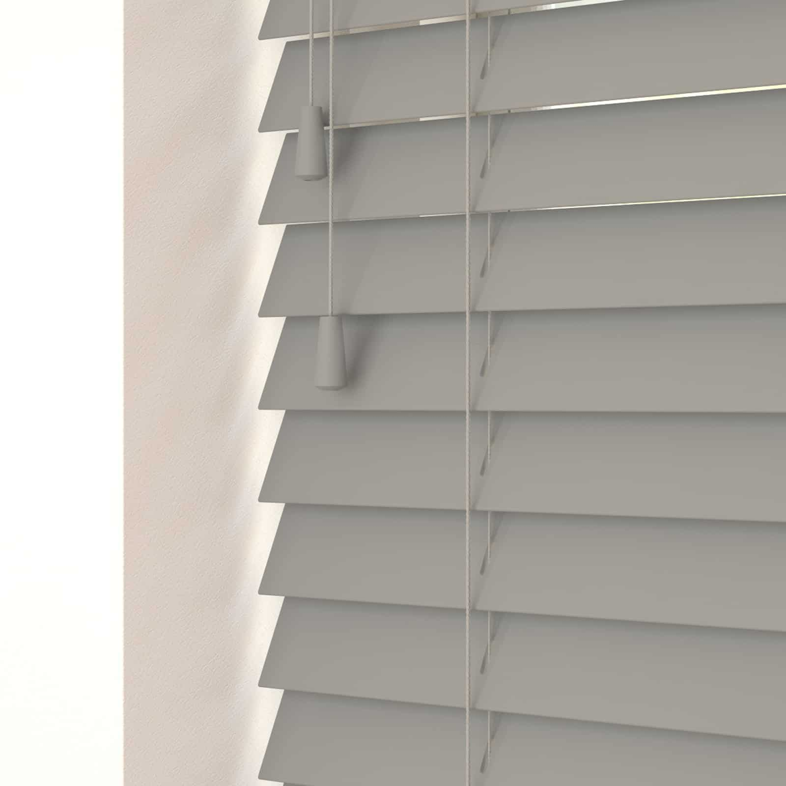 Pvc Jalousien Cheapest Blinds Uk Ltd | Steel Grey Faux Wood (with Cords)