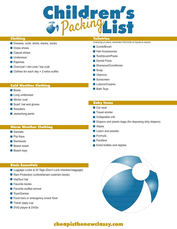 Free Printable Cruise Packing List Cheap Is The New Classy - 7 day cruise packing list