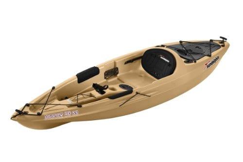 Sun dolphin journey ss sit on fishing kayak sand 10 feet for Best cheap fishing kayak