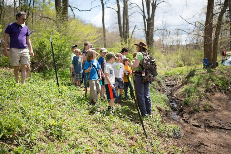 The Cheat River Festival. This is the kids nature hike, taking place along the Cheat River.