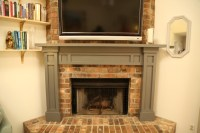 Easy Fireplace Mantel DIY | Checking In With Chelsea