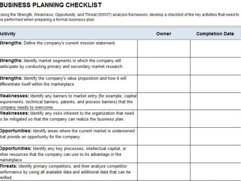 Business disaster recovery checklist, incident response plan - free business continuity plan template