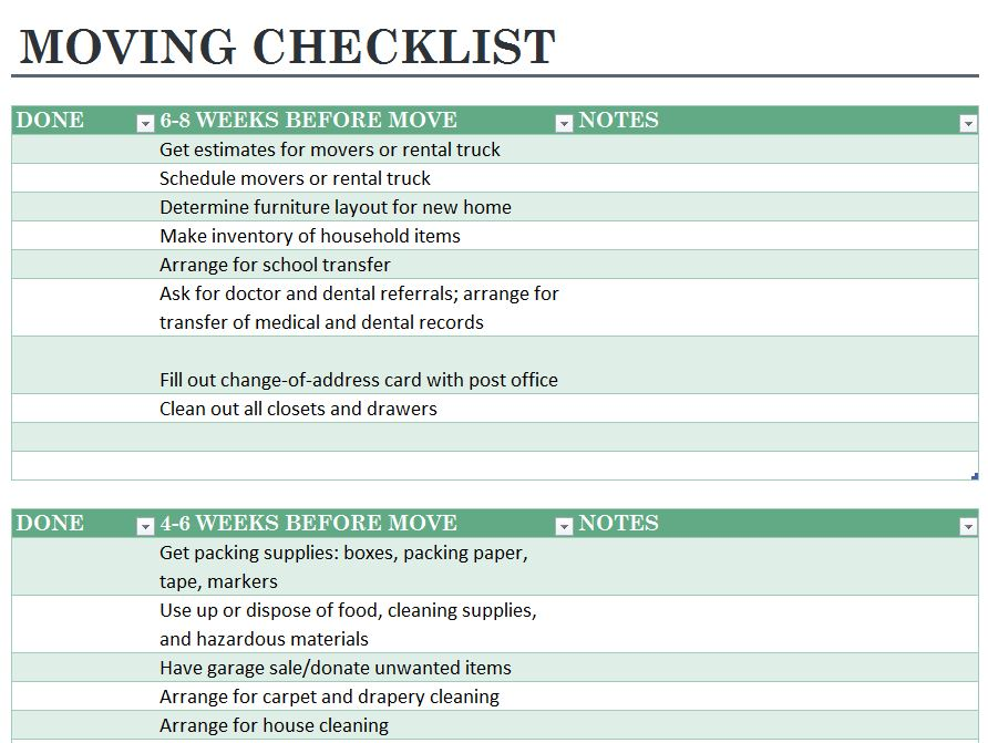 Office Moving Checklist Template best 20 checklist template ideas - moving checklist template