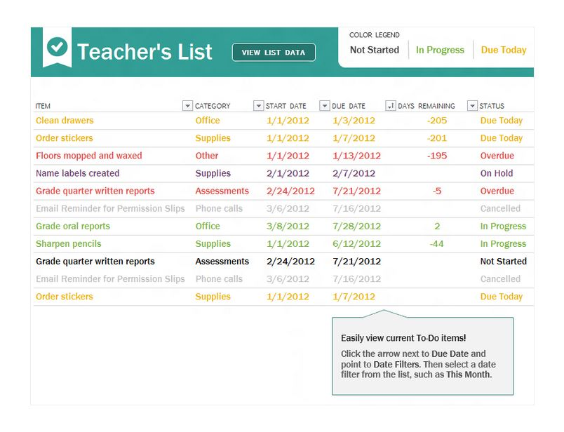 Teacher To Do Checklist Teachers To Do List
