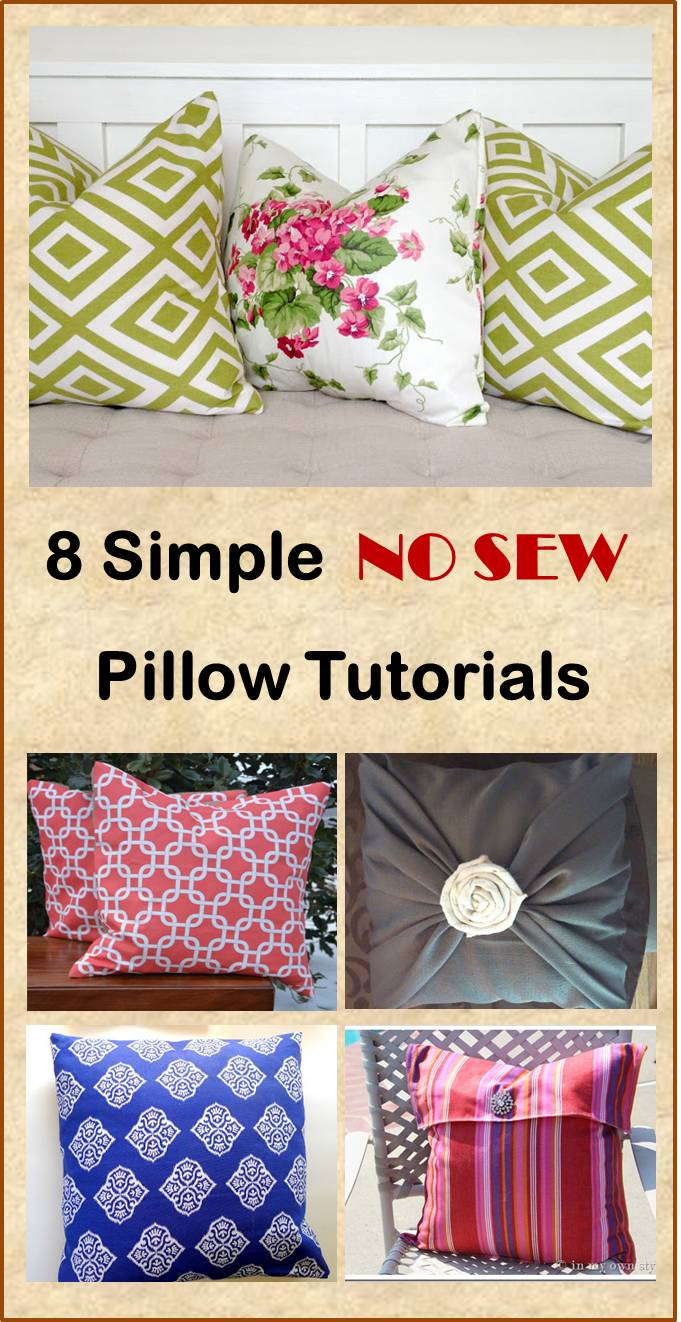 simple no sew diy pillow tutorials cheer and cherry. Black Bedroom Furniture Sets. Home Design Ideas