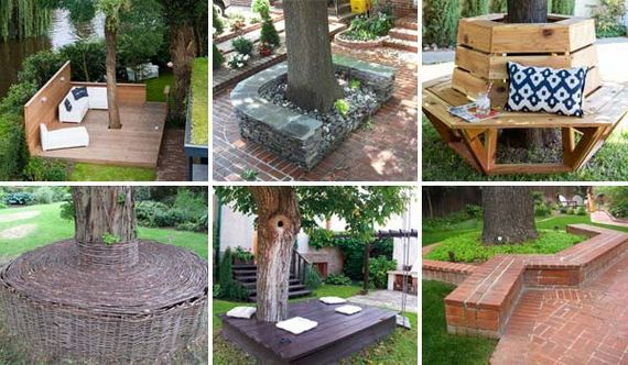 Runde Baumbank Diy Cozy Tree Seat
