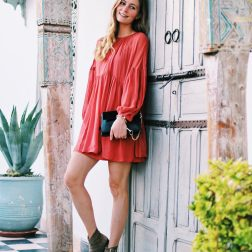 Leaning on the old door