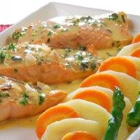 Cocinar salmon a las finas hierbas