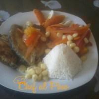 Escabeche de pescado con arroz