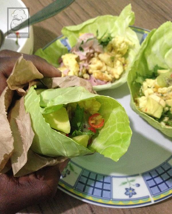 cheffinitup-fruitsalad-ham-scramble-wrap7