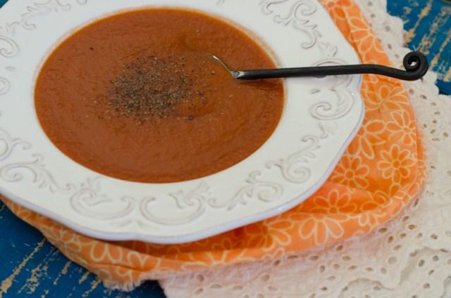 Vegan Tomato Soup recipe from ChefSarahElizabeth.com