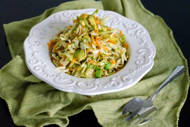 Avocado Summer Slaw recipe from ChefSarahElizabeth.com