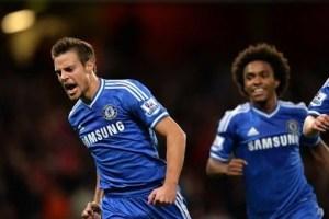 Azpilicueta marcou o seu primeiro gol com a camisa do Chelsea (Foto: Chelsea FC)