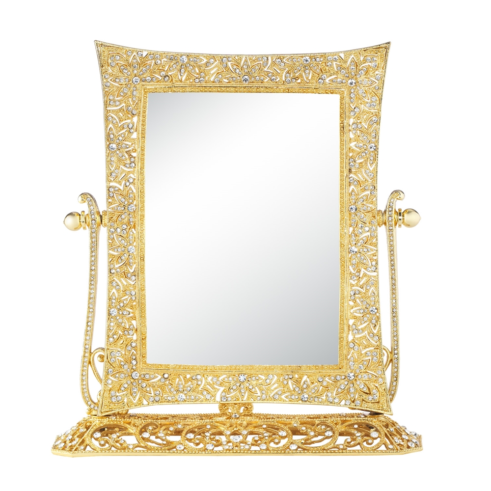 Standing Mirror Olivia Riegel Gold Windsor Magnified Standing Mirror