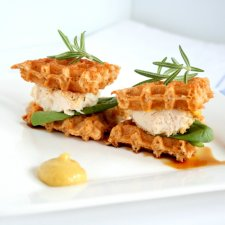Chicken and Waffles Sandwich