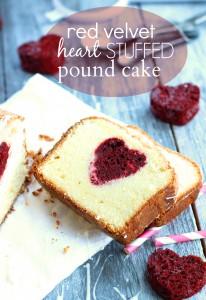 Chelsea's Messy Apron Red Velvet Heart Stuffed Pound Cake