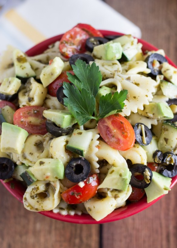 Pesto Pasta & Tortellini Salad
