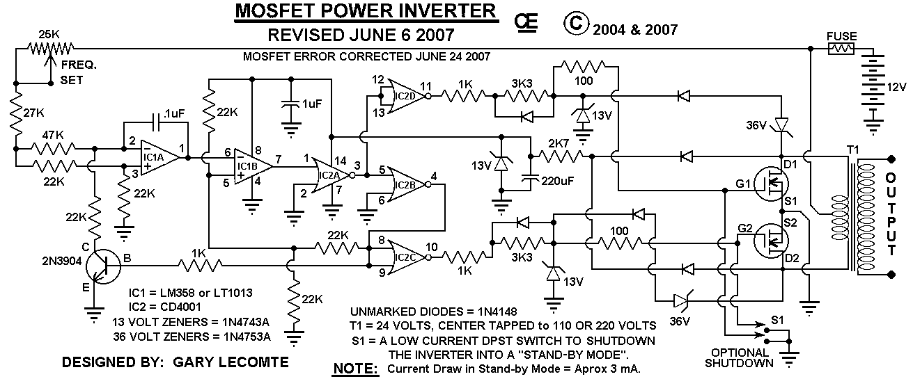 revised schematic with standy power switch
