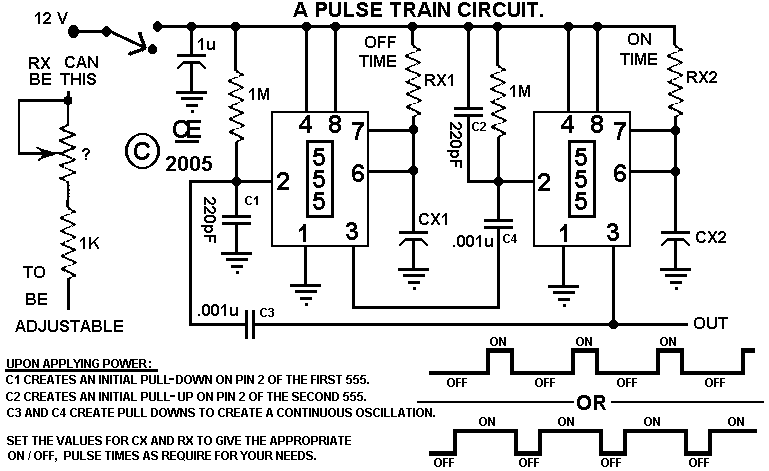 repeating interval timer circuit
