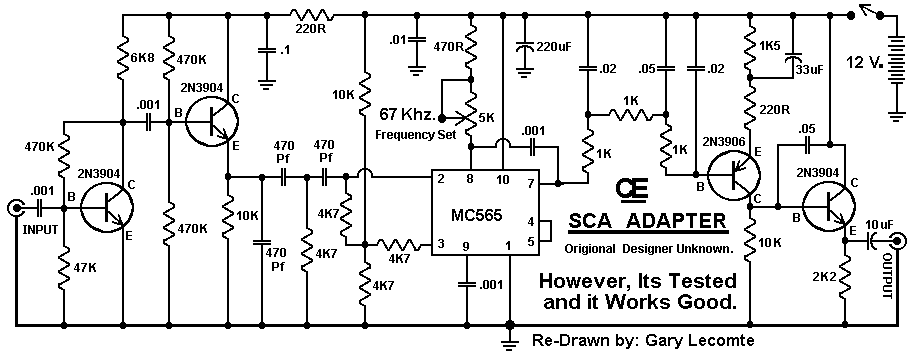sca subcarrier adapter for fm