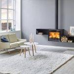 poêle bois double combustion, puissance min / max : 3 - 10Kw, rendement 82%, chauffe jusqu'à 340m3