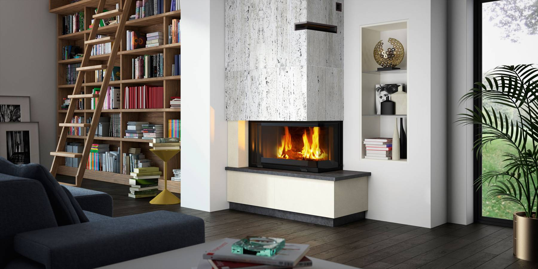 Contemporary Wood Fireplaces Modern Wood Heating And Fires