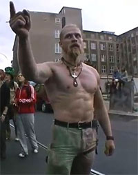 Techno Viking doesn't dance to the music, the music dances to Techno Viking
