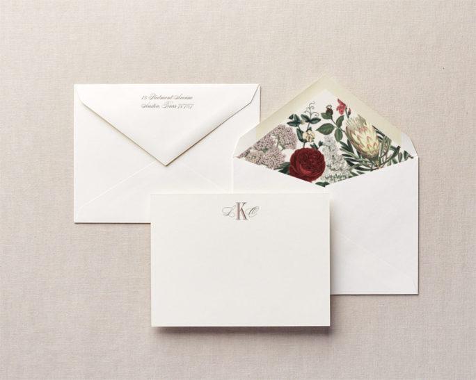 Beautiful Botanicals Personalized Stationery - Cheree Berry Paper