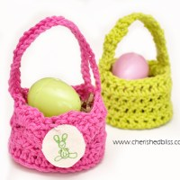 Mini Crochet Easter Baskets