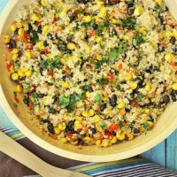 Warm Black Bean and Corn Quinoa Salad