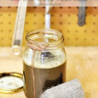 DIY Wood Stain using household products