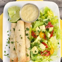 Oven Baked Chicken Taquito Recipe