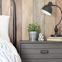 Rustic Industrial Night Stand | Ikea Rast Hack