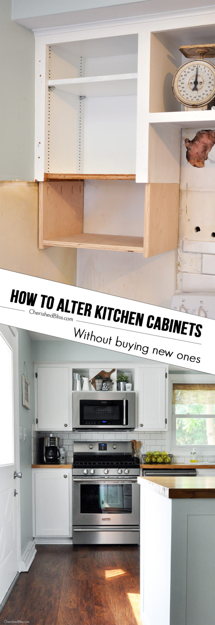 Doorless Kitchen Cabinets How To Alter Kitchen Cabinets Cherished Bliss
