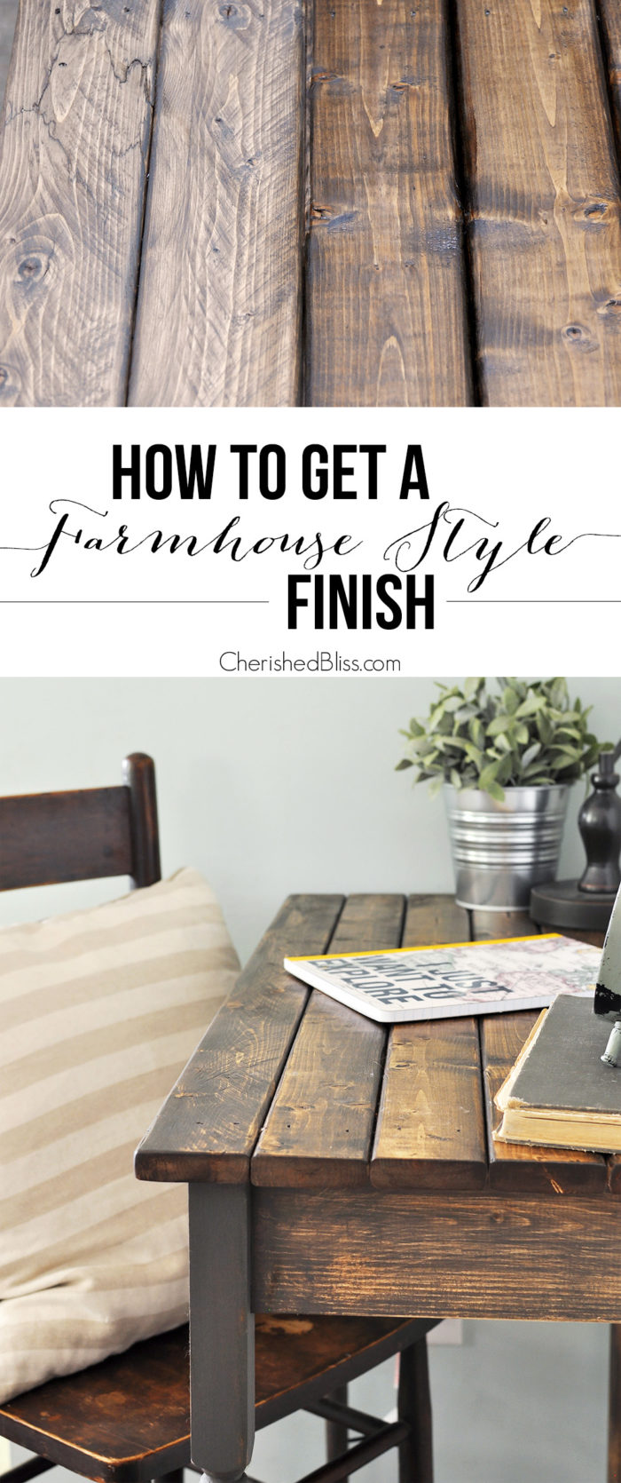 Diy Farmhouse Style Desk How To Get A Farmhouse Style Finish Cherished Bliss
