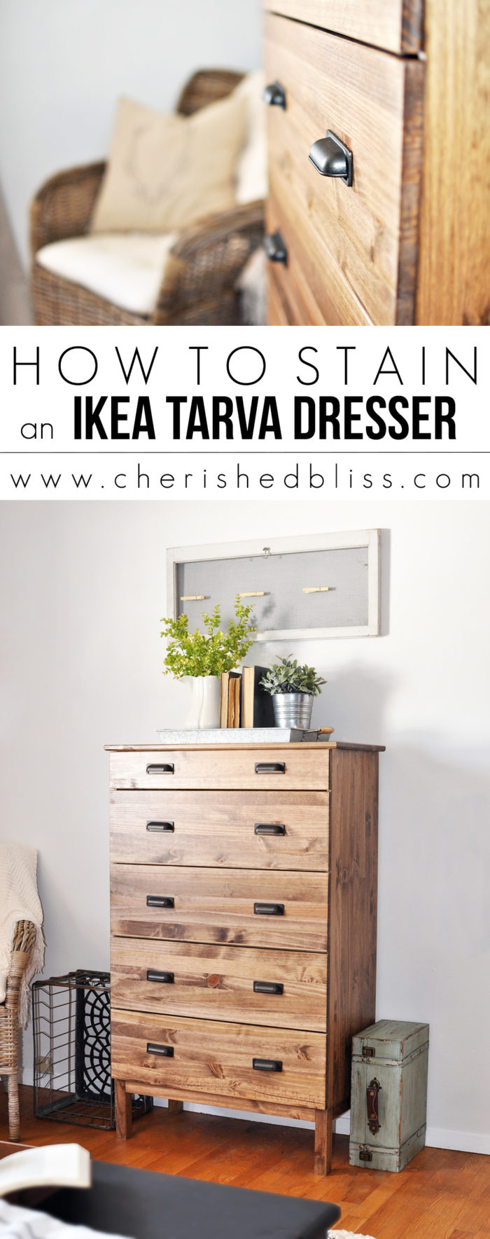 Tarva Kommode How To Stain An Ikea Tarva Dresser Cherished Bliss